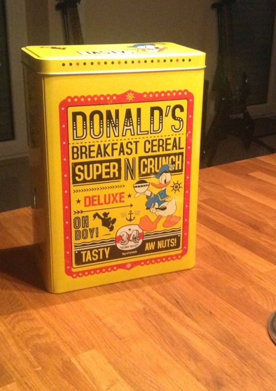 New Donald Duck cereal box