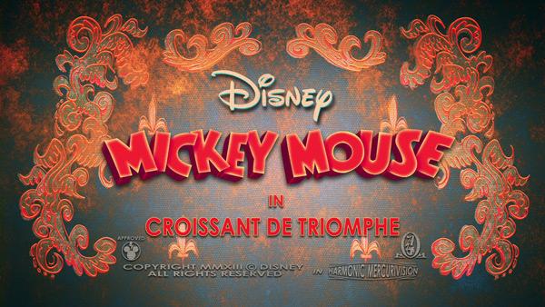 Mickey Mouse - Croissant de Triomphe